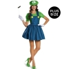 Super Mario: Luigi w/Skirt Adult Costume Plus